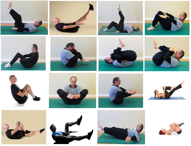 Postures of Pilates-Wellness