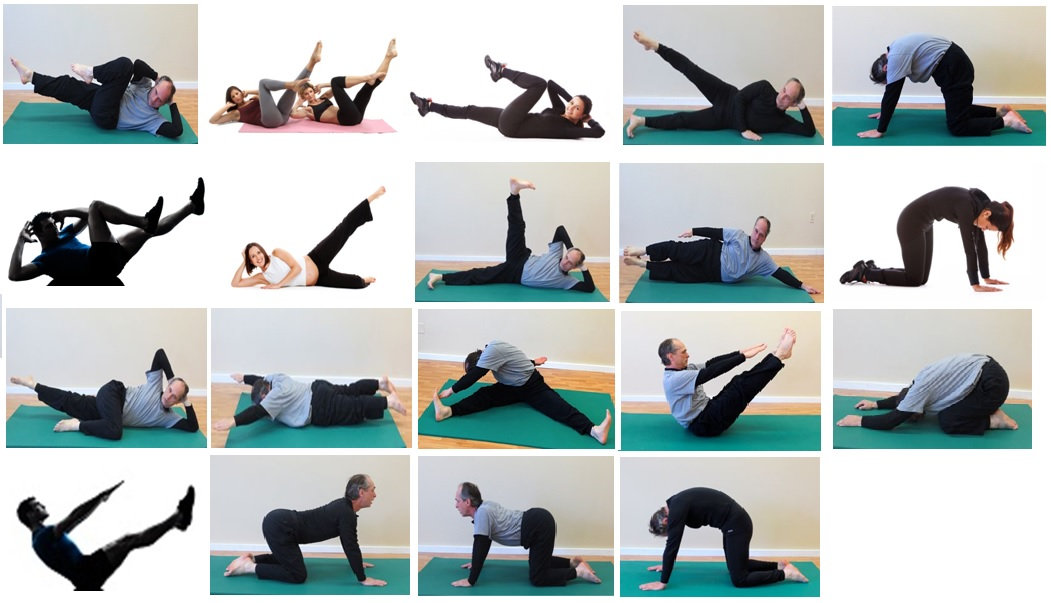 Some more postures of Pilates