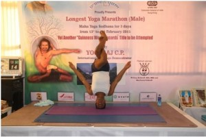 "Indian Yoga teacher ""King of Yoga "" Yogaraj creates new record"