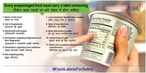 The Food label requirements of India