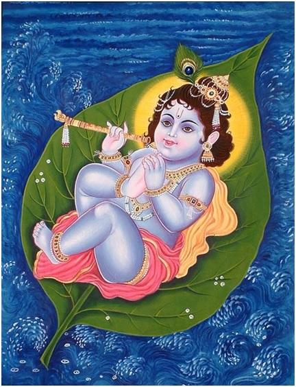 Ananda balasana (Child pose) of Bala Krishna