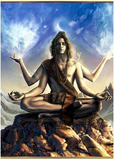 Chin mudra of Lord Shiva