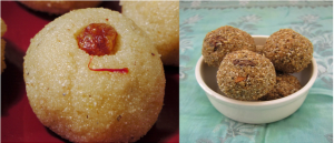 Rava laddu And Millet laddu