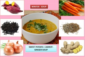 SWEET POTATO-CARROT-GINGER WINTER SOUP