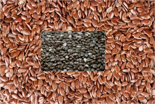 Flax seeds & chia seeds