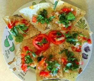 Add vegetables & little spice to Nachos