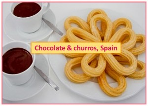 Chocolate and Churros, Madrid, Spain