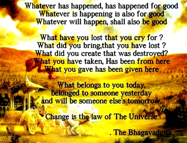 change is the law of the universe