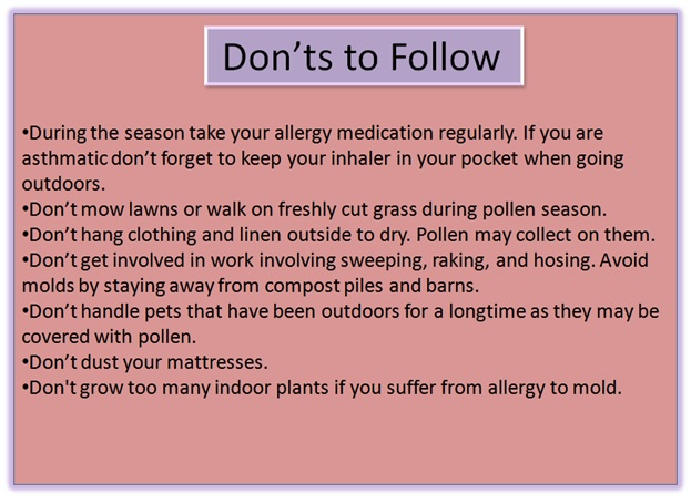 What other precautions to follow? - Click here to Read