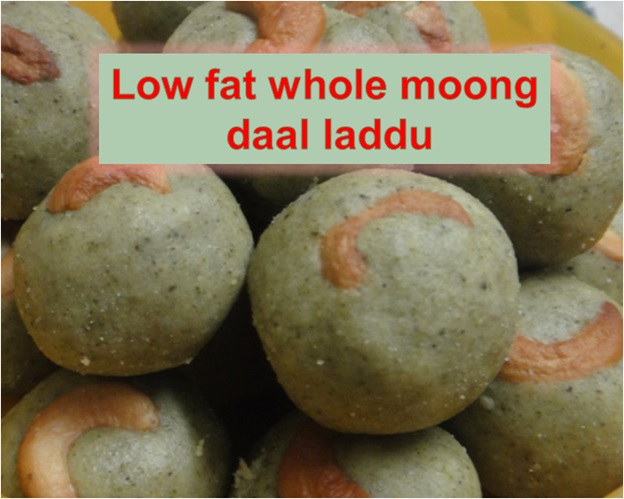 LOW FAT WHOLE MOONG DAAL LADDU FOR SHIVARATRI