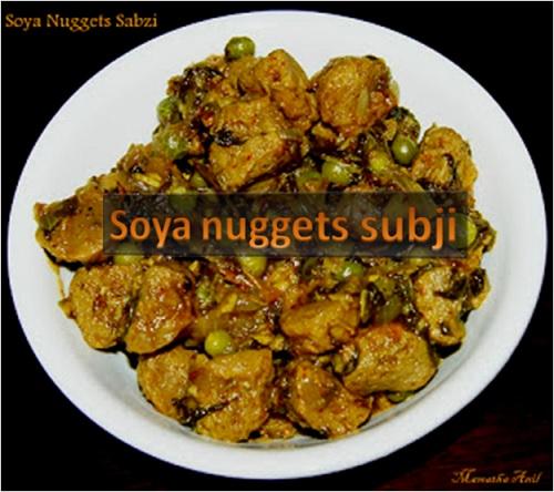 Soya Nuggets Sabzi