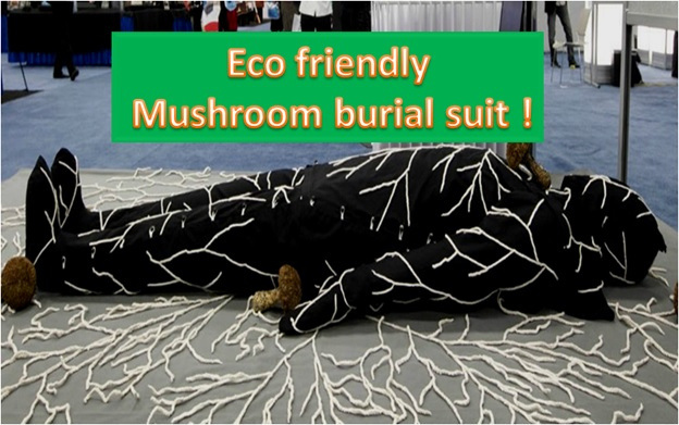 Eco-Friendly Burial Suit Transforms Your Body into Mushrooms After You Die!