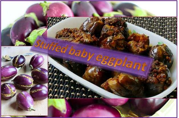 Delicious stuffed baby eggplant curry