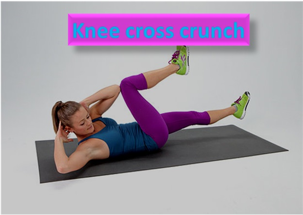 Knee Cross Crunch - To Loose Belly Fat