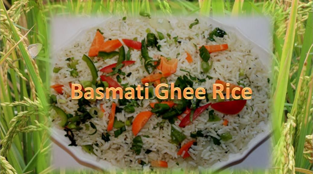 Basmati ghee rice