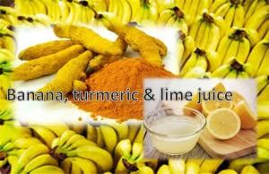 Banana, Turmeric and Lime Juice Mask
