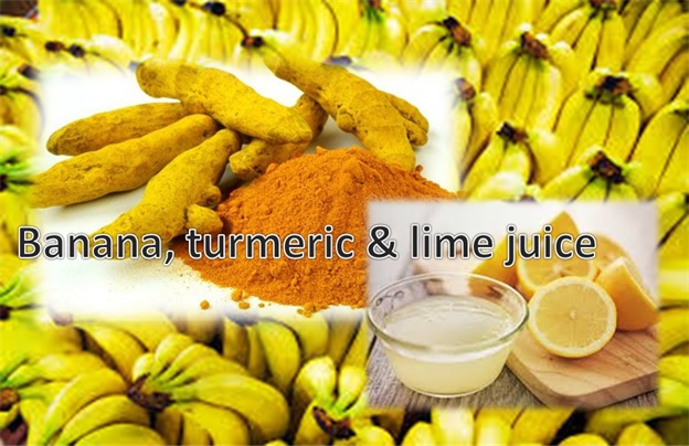 Banana, Turmeric and Lime Juice Mask