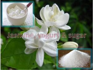 Jasmine, Yogurt and Sugar Mask