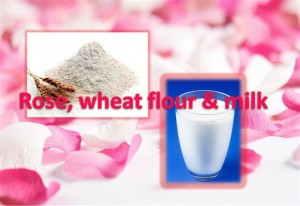 Rose, Milk and Wheat Flour Mask