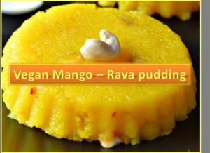 Vegan mango rava