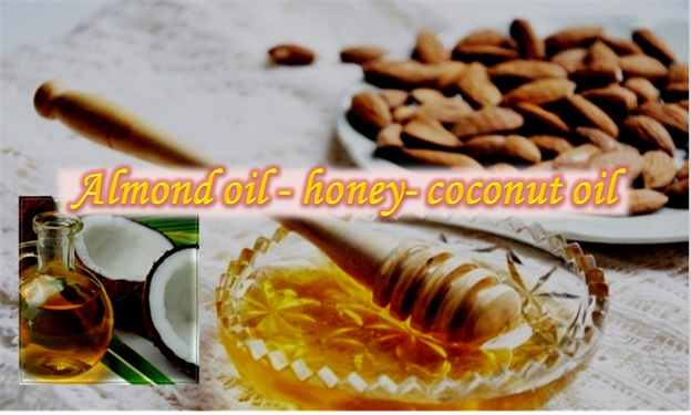 Almond Oil, Honey & Coconut Oil Mix For Wrinkled Skin