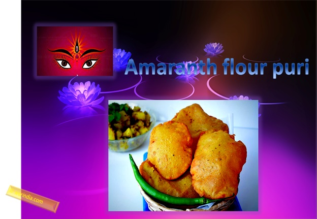 Amaranth Flour Puri For Navratri