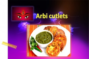 Arbi Cutlets For Navratri