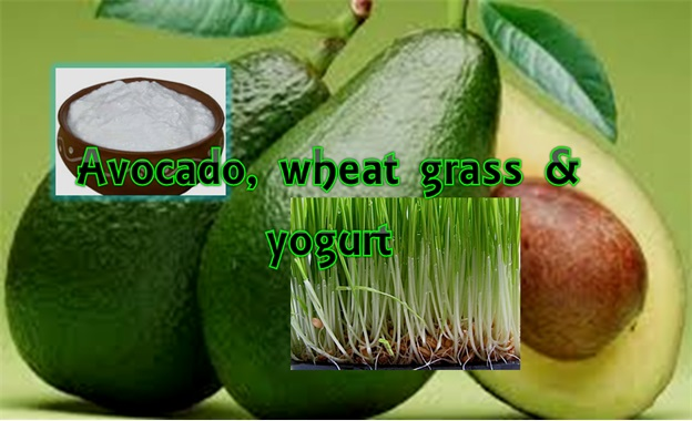 Avocado, Wheatgrass & Yogurt Combo For Wrinkled Skin