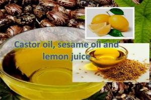 Castor Oil, Lemon Juice & Sesame Oil For Wrinkle Free Skin