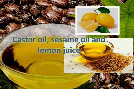 Castor Oil, Lemon Juice & Sesame Oil For Wrinkled Skin