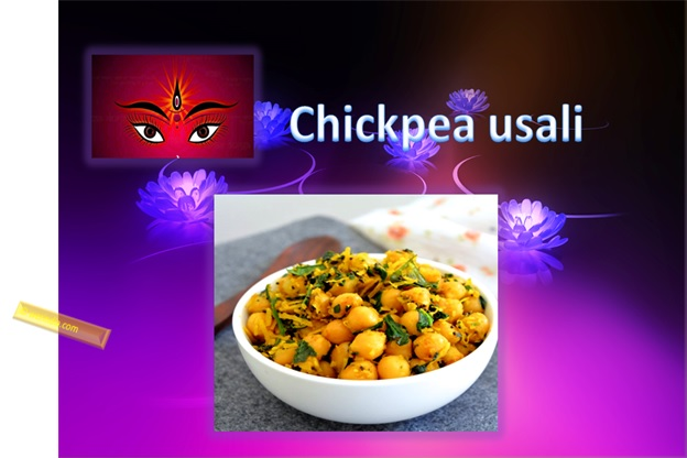 Chickpea Usali For Navratri