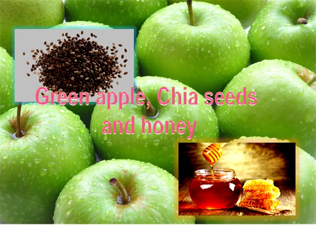Green Apple Chia Honey Mix For Wrinkled Skin