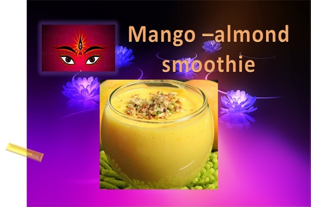 Mango Almond Smoothie For Navratri