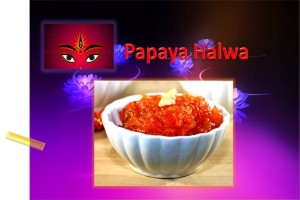 Papaya Halwa For Navratri