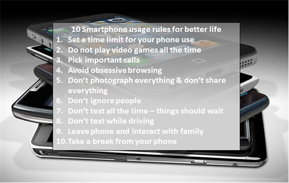 Set rules for your Smartphone usage