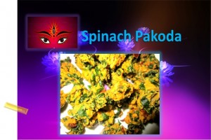 Spinach Pakoda For Navratri