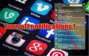 Notifications and Distractions
