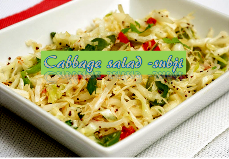 Cabbage Salad Sabji