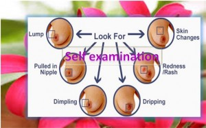 Self examination of breast cancer