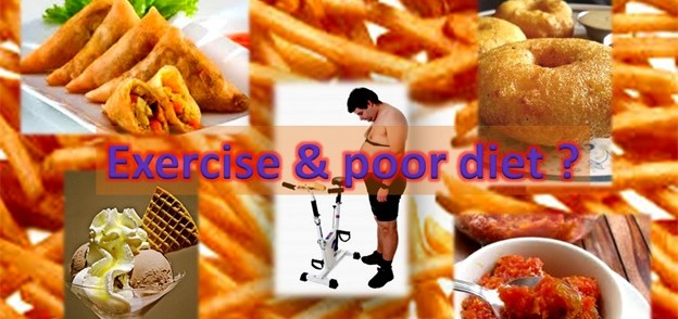 Exercise and poor diet combination