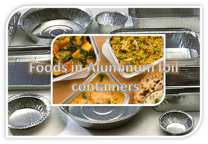 Food in Aluminium Foil Containers