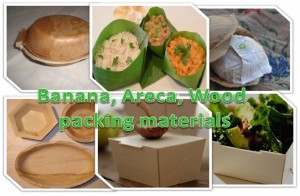 Banana and Areca Leaf Trays and Bags and Left Over Woods