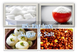 Eat Less Sugar & Salt