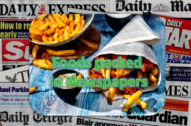 Food Packed In Newspapers