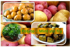 Aloo Mint Stir Fry