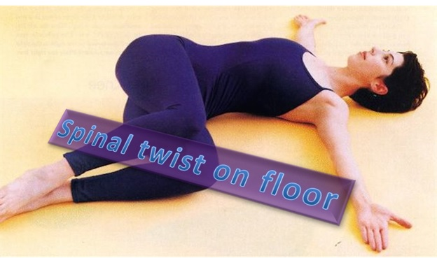 Spinal Twist On The Floor - Supta Matsyendrasana