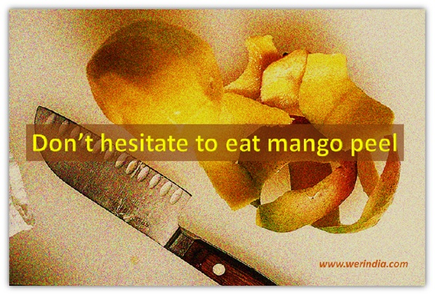 Delicious mango fruit and its valuable skin!