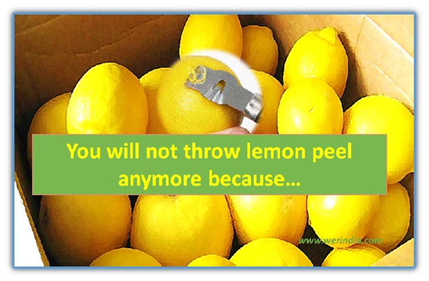 You will not throw Lemon peel anymore..