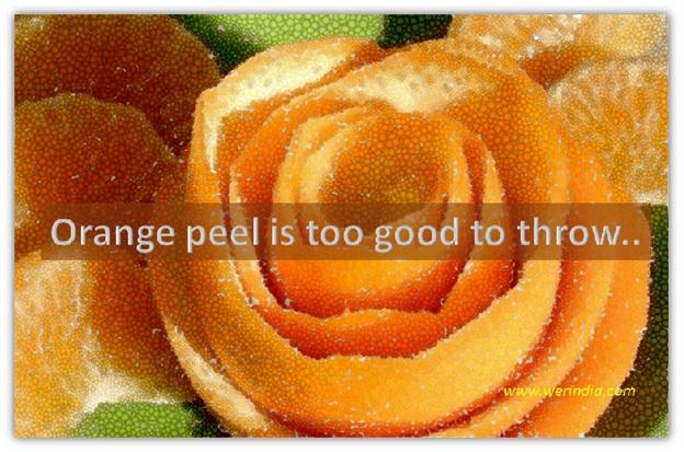 Orange peel is too good to throw…