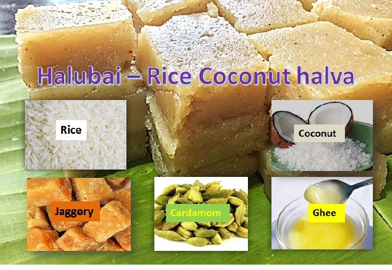 Rice Coconut Halva – Halubai